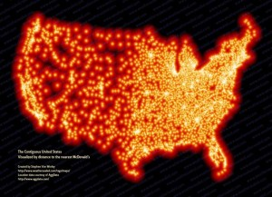 Implantation de McDonald's aux Etats-Unis. La place va bientôt leur manquer...