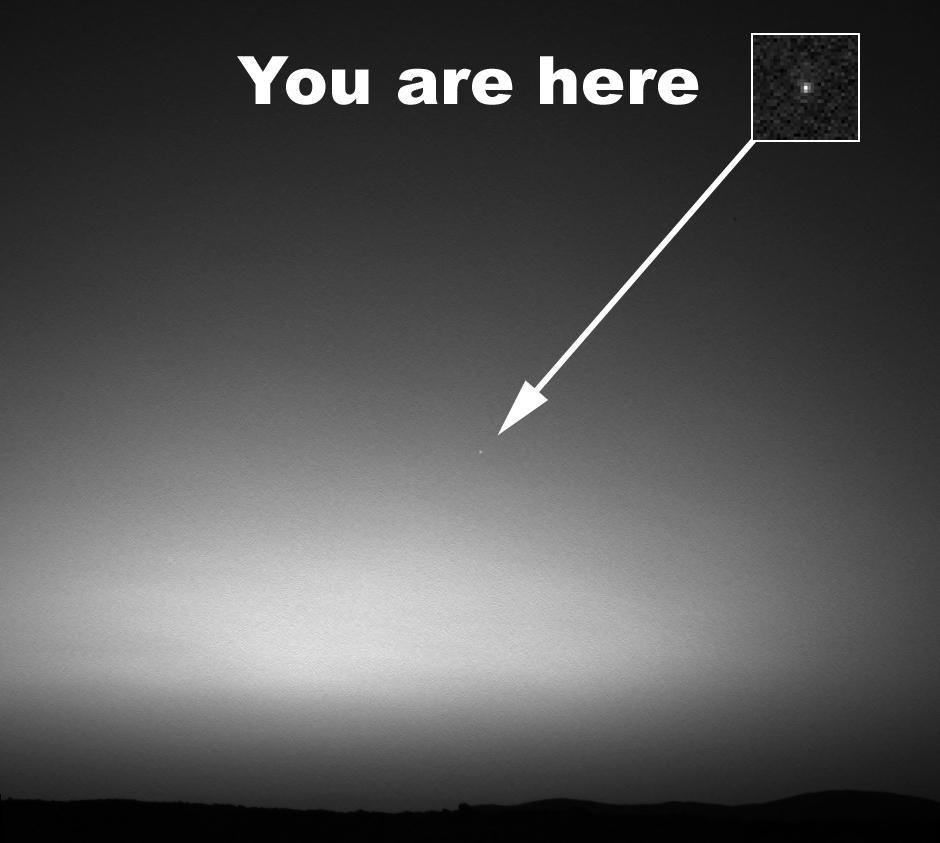 La Terre vu du sol de Mars, NASA